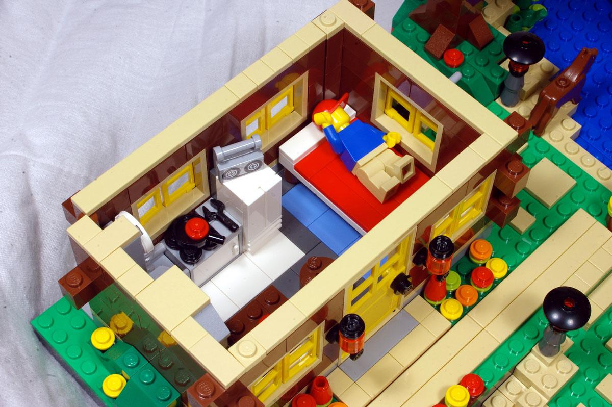 Mod Steep Hillside House With Interior 5771 Lego Town Eurobricks Forums